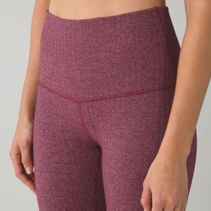 Lululemon Heathered Herringbone Berry Rumble